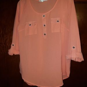 Miss Daisy Sheer Button Down Top